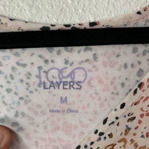 LOGO by Lori Goldstein Tops - LOGO Layers Lori Goldstein Rainbow Speckled Top